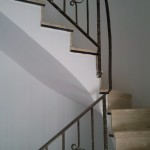 Escalera roble negro calízo Valencia 13