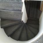 Escalera roble negro calízo Valencia 2