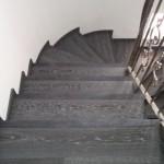 Escalera roble negro calízo Valencia 27