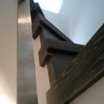 Escalera roble negro calízo Valencia 34