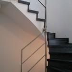 Escalera roble negro calízo Valencia 36
