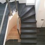 Escalera roble negro calízo Valencia 38