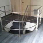 Escalera roble negro calízo Valencia 40