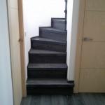Escalera roble negro calízo Valencia 8