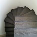 Escalera roble negro calízo Valencia 9